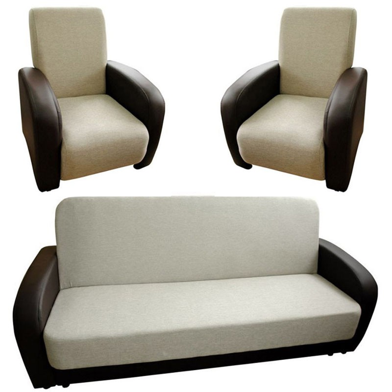 Edyta sofa bed + 2 armchairs