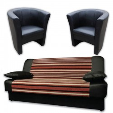 Sara 120 sofa bed + 2 armchairs Charlotte