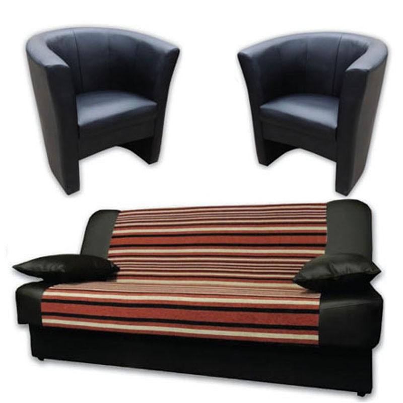 Sara 120 wersalka + 2 fotele Charlotte