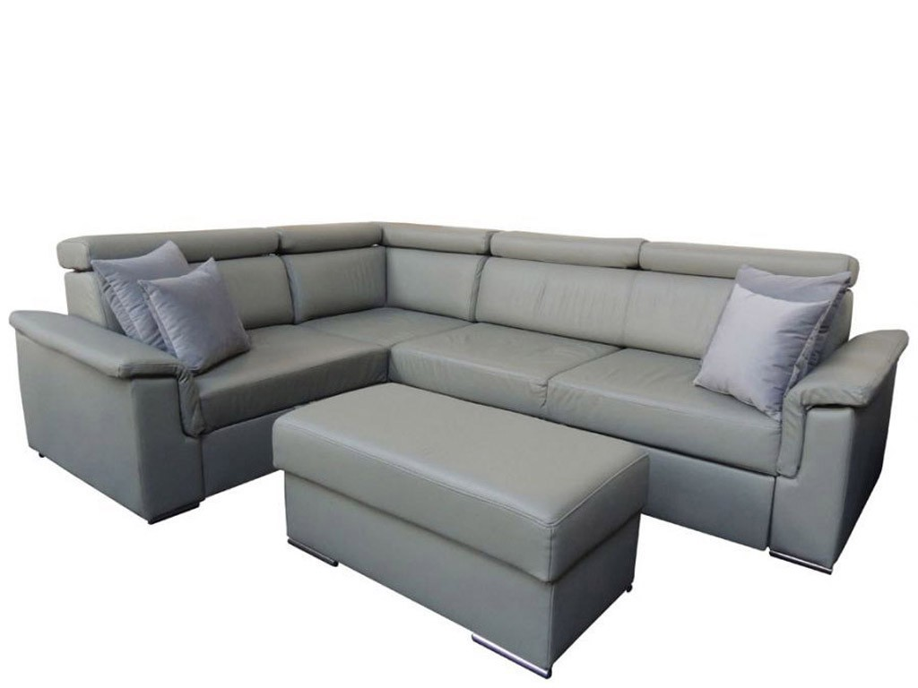 Corner sofa beds with sleeping function and a container for ...