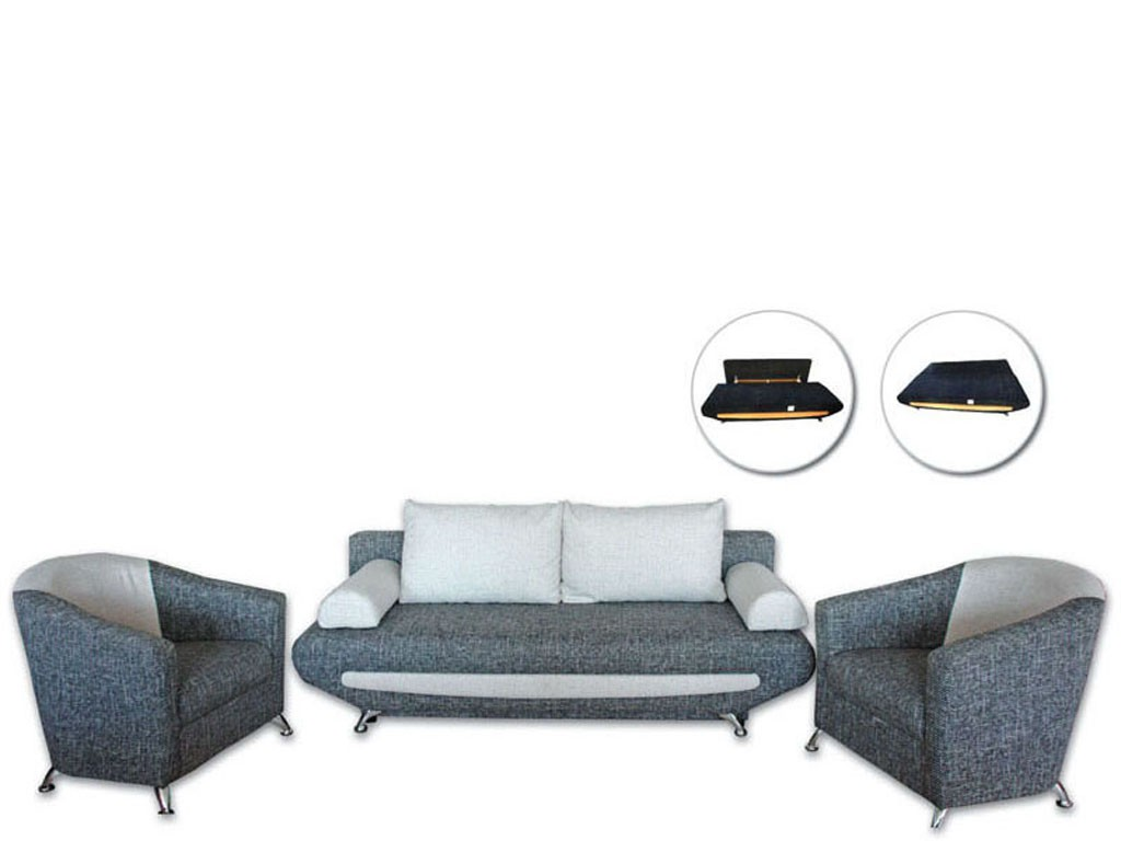 Ren sofa bed + 2 armchairs Pepe