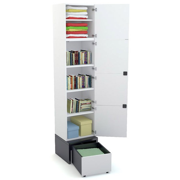Young Users 1 door wardrobe with base unit 53x53 and a drawer