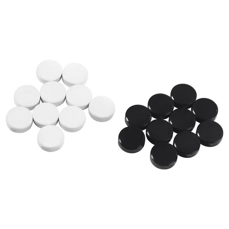 Young Users Magnetic pieces set 24 pcs (12 black and 12 white)