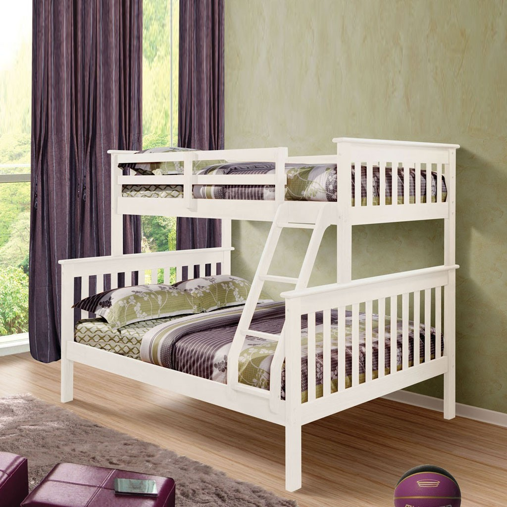 TRIPLE WHITE BUNKBED FULL DOUBLE