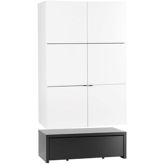 Young Users 2 door wardrobe with 106x53 base unit and a drawer