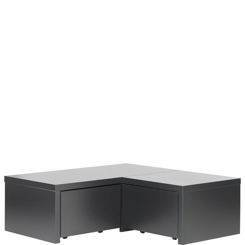 Young Users corner base unit with 2 drawers