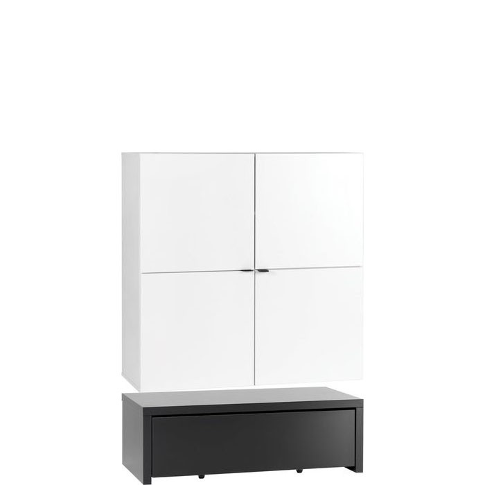 Young Users wide cabinet with 106x53 base unit with drawer