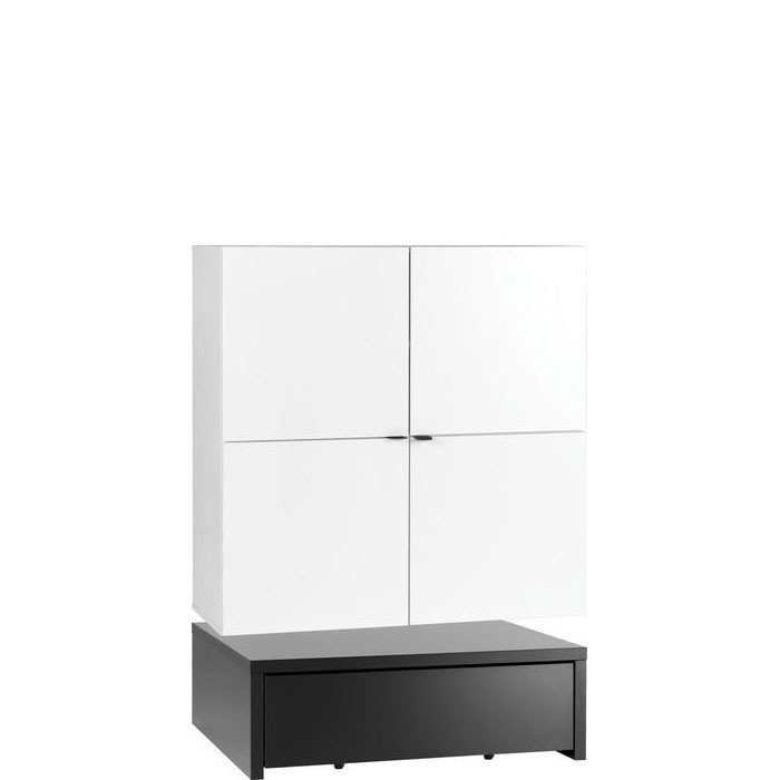 Young Users wide cabinet with 106x95 base unit and a table