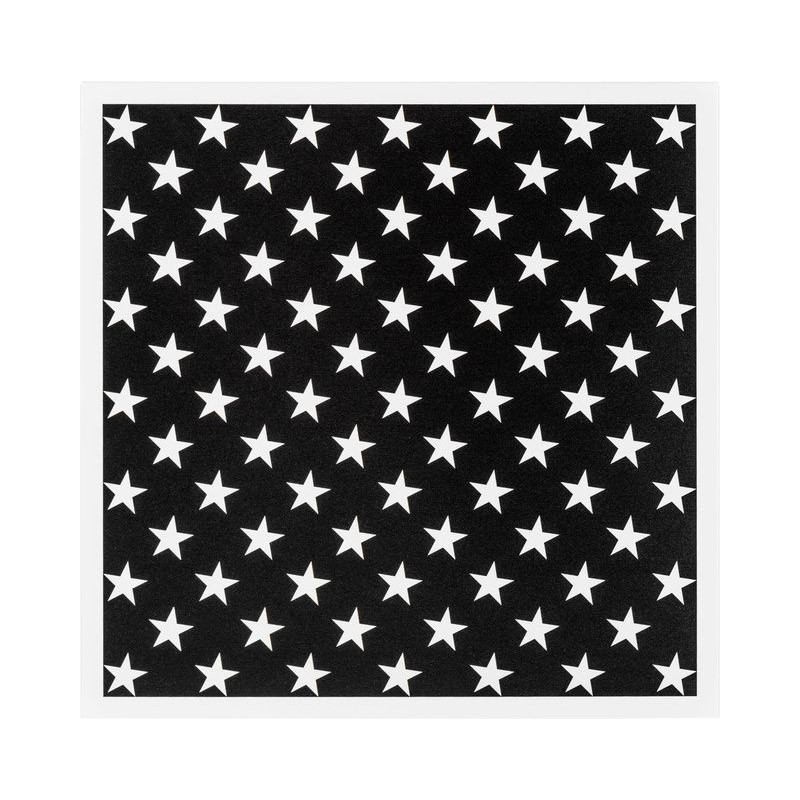 Young Users Metal front cover for doors White Stars